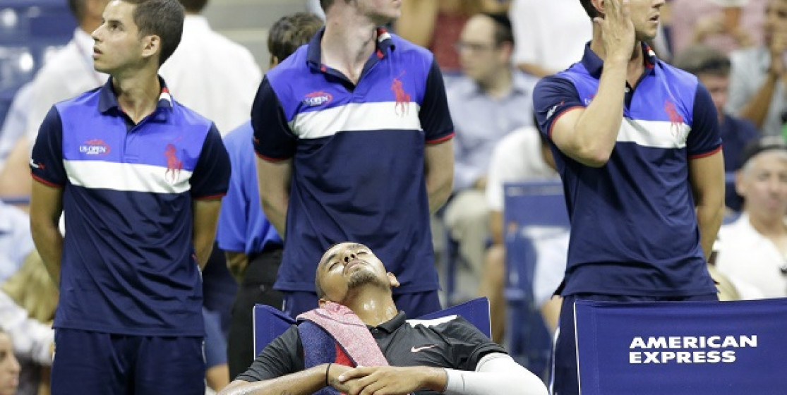 Kyrgios is making the show at the US Open