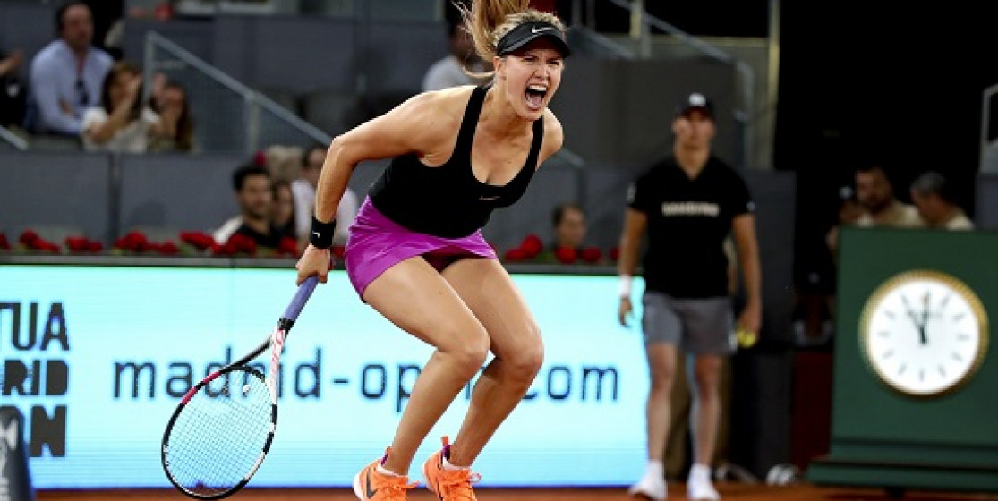 BOUCHARD STRIKES SHARAPOVA