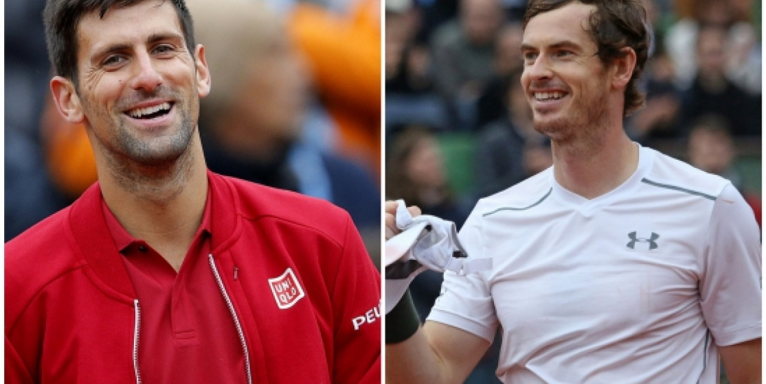 NOVAK AND ANDY CHASE ROLAND GARROS GLORY