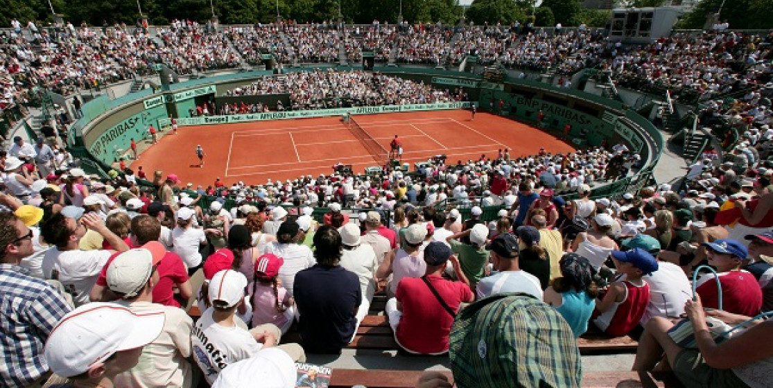 It happened on an outside court at Roland-Garros…