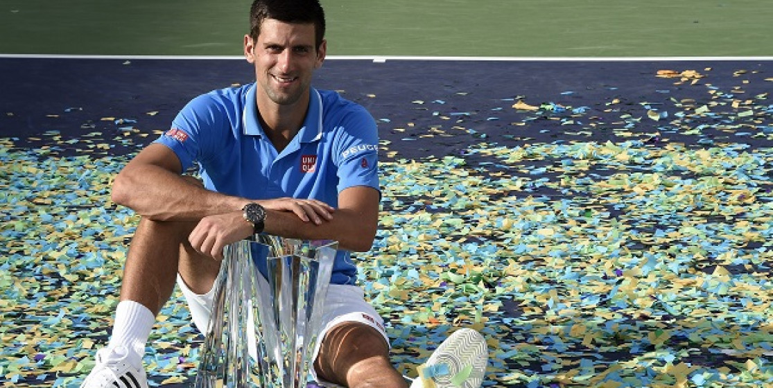 Novak leaves with two cups