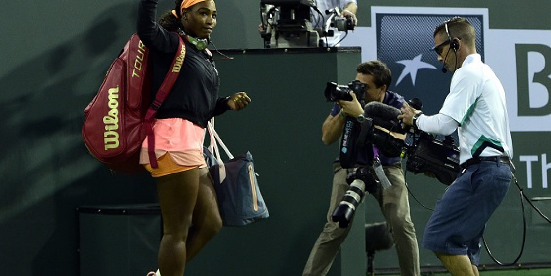 Serena Williams, from tears to laughter