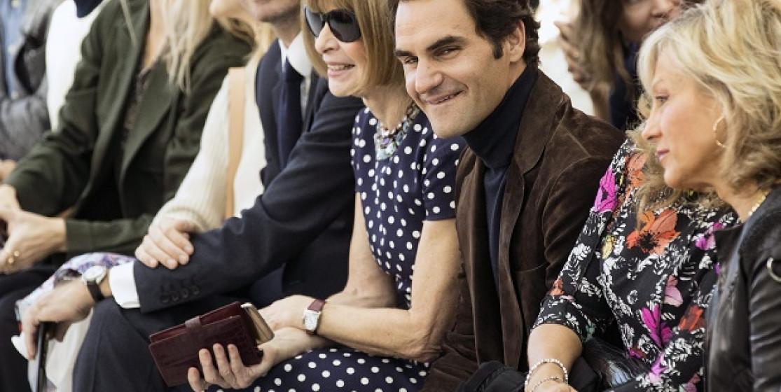 Roger Federer at Fashion Week