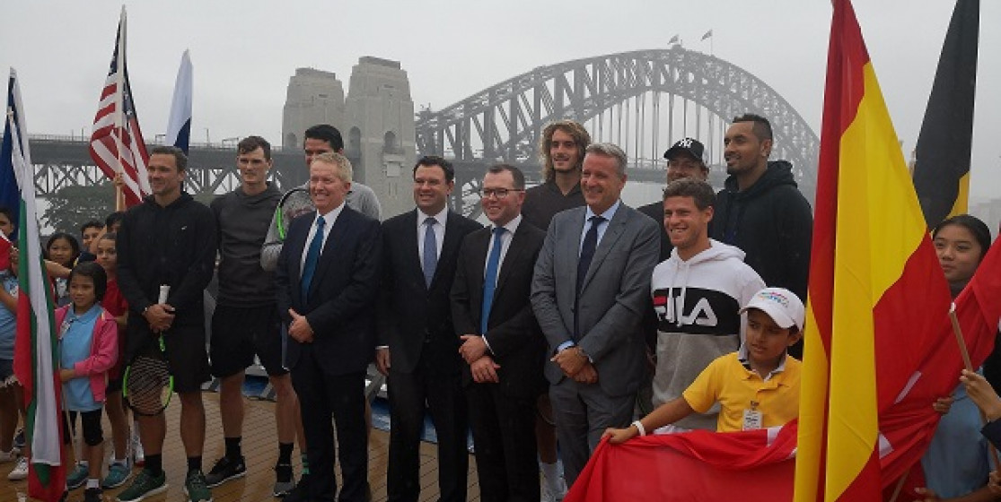 ATP CUP LAUNCHED ON SYDNEY HARBOUR