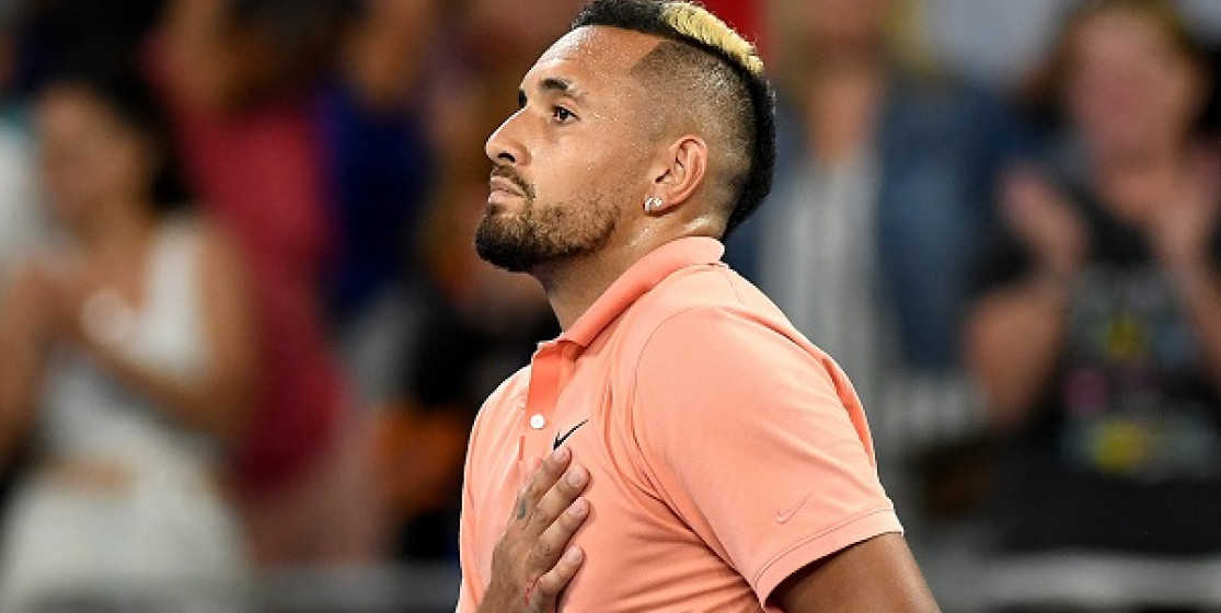 NICK KYRGIOS IS CONTENT
