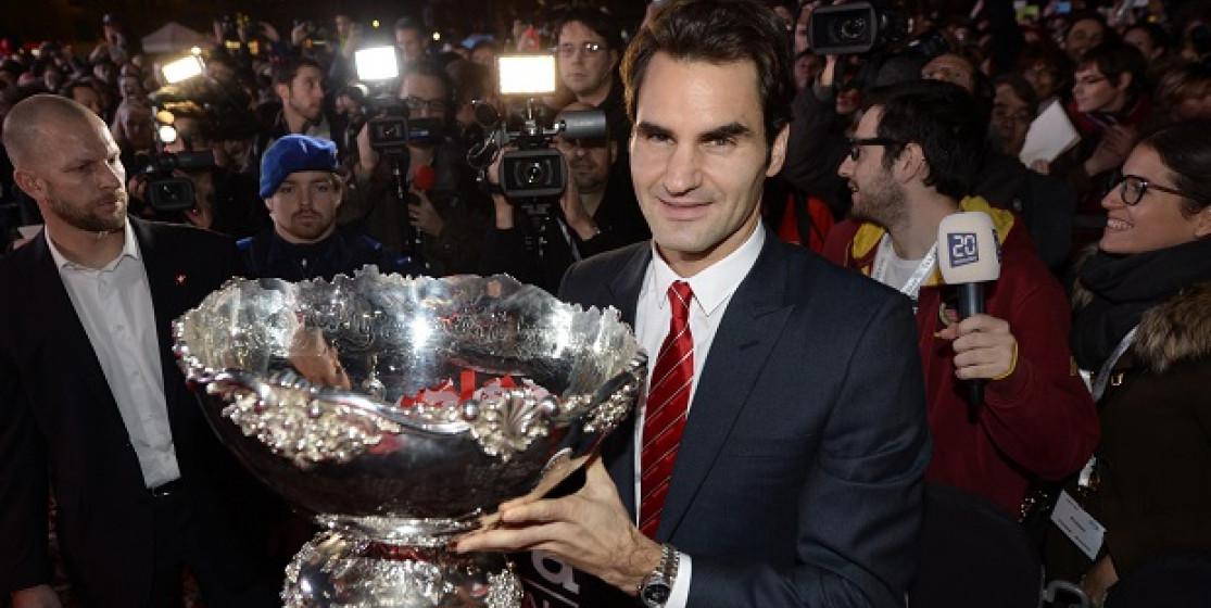 Roger Federer is touching heaven