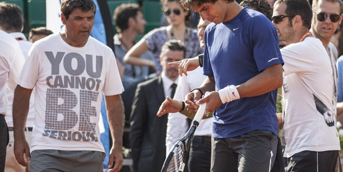 What relationship do players have with their racquets?