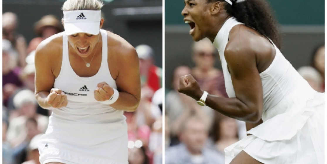 SERENA AND ANGIE IN WIMBLEDON FINAL