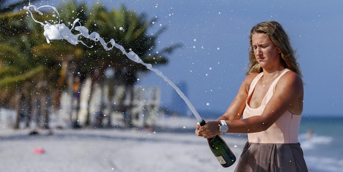 Champagne pour Azarenka