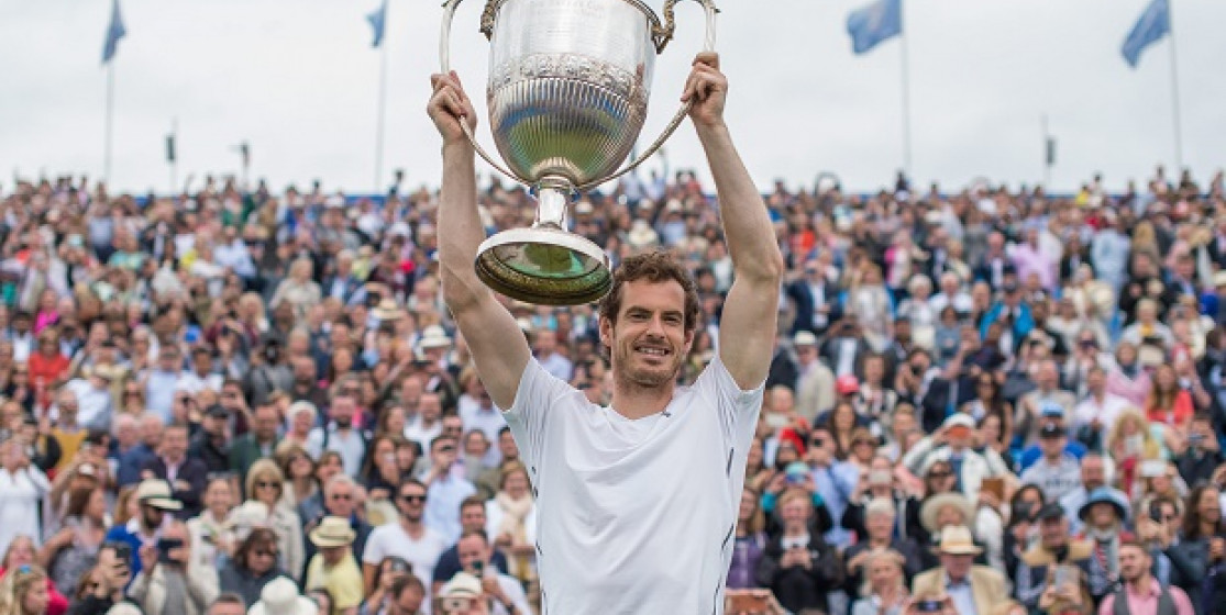 Andy Murray sees life in green
