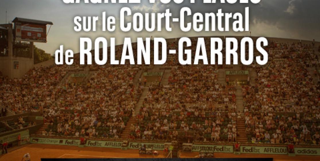 Gagnez vos places pour Roland-Garros avec