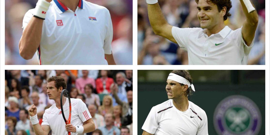 Les chances du big 4 à Wimbledon