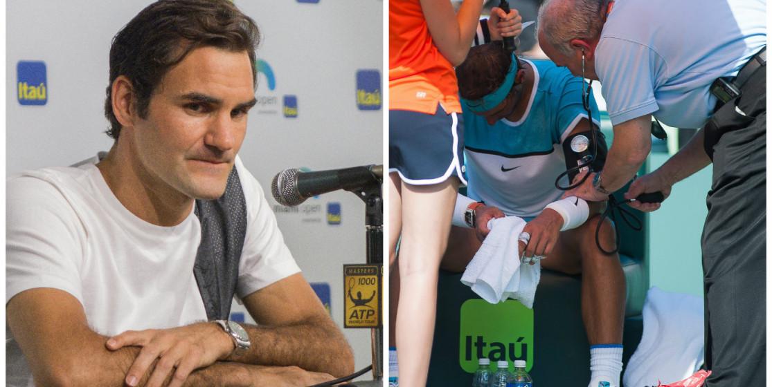 Nadal et Federer à la case