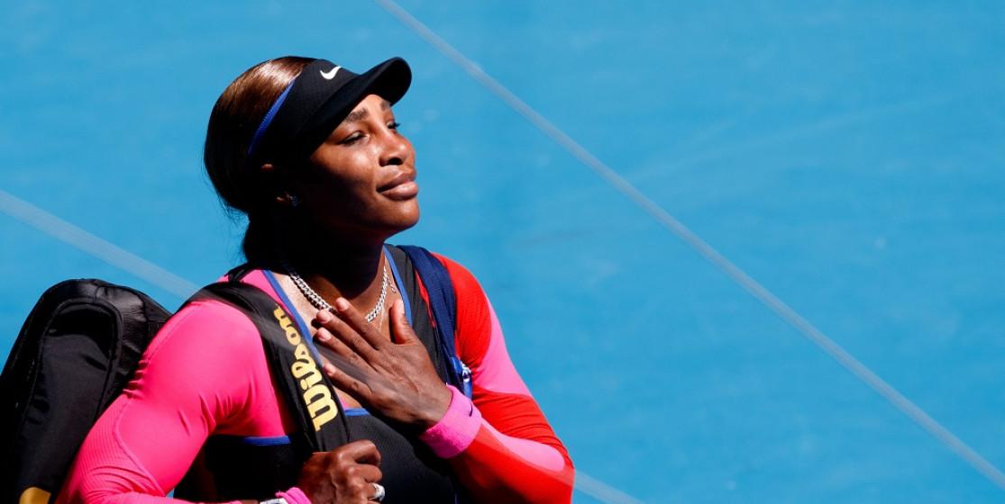 Serena Williams leaving the Australian Open