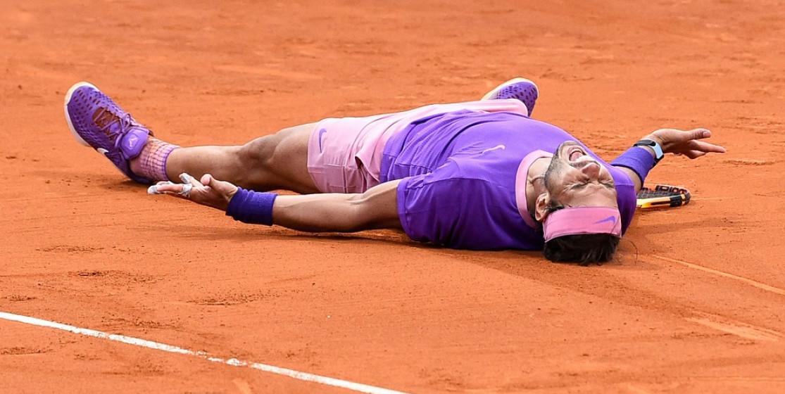 Rafa Nadal celebrates his Barcelona victory