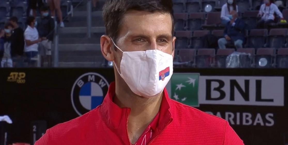 Novak Djokovic at Internazionali BNL d'Italia
