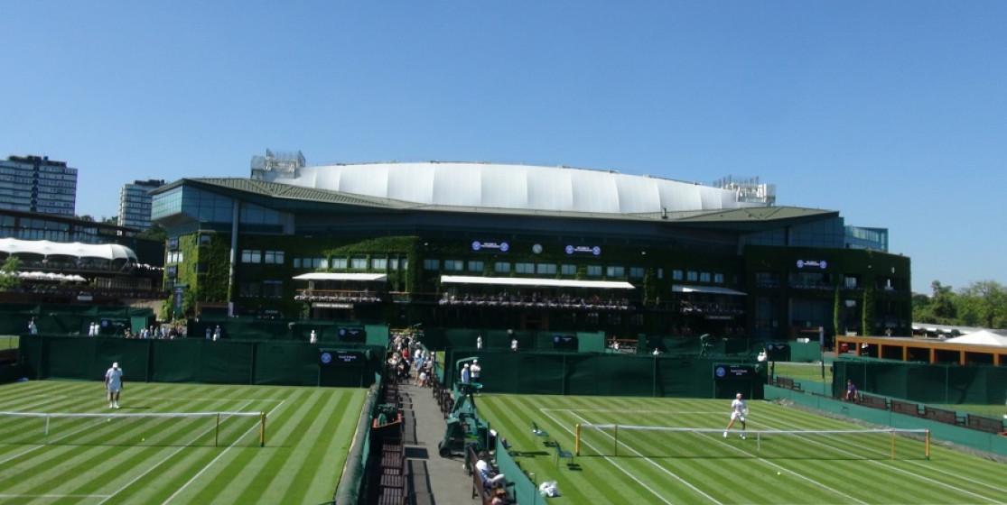 Looking towards Wimbledon's Centre Court