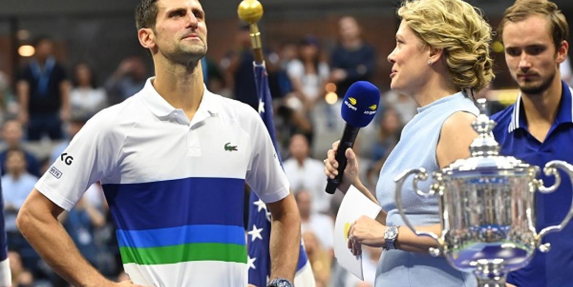 Novak Djokovic at the US open